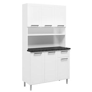 Armário de Cozinha Aço 6 Portas 1 Gaveta Múltipla Branco - Bertolini