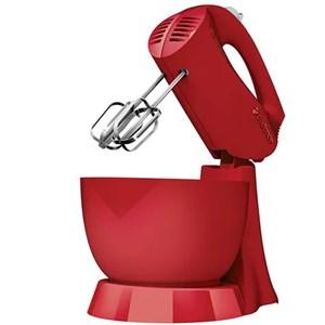 Batedeira Jolie Colors 3 Velocidades + Pulsar 1 Tigela 200W Vermelha Cadence