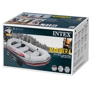 Bote Barco Inflável Mariner 4 Com 2 Remos - Intex