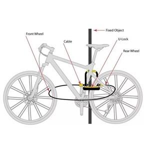 Cadeado U-lock + Cabo 8154 Reforçado para Bicicletas e Moto com Chave Onguard