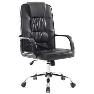 Cadeira de Escritório Presidente Couro Base Cromada C350 Best