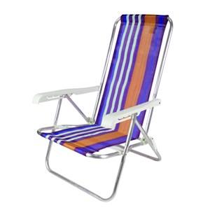 Cadeira de Praia Reclinável 4 Posições Alumínio Belfix P