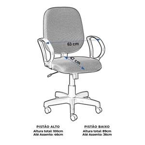 Cadeira Escritório Giratória Diretor Napa com Braço Digitador Preta
