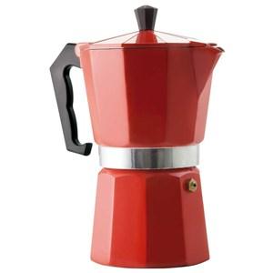 Cafeteira Italiana Alumínio para 6 Cafezinhos Vermelho