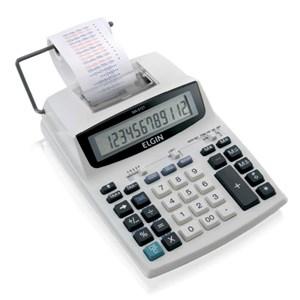 Calculadora de Impressão 12 Dígitos com Adaptador Branca - Elgin