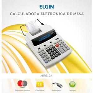 Calculadora de mesa c/ 12 dígitos calendário  e impressão de data MR-6124 - Elgin