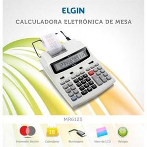 Calculadora de mesa com 12 dígitos, calendário e impressão de data MR-6125 - Elgin
