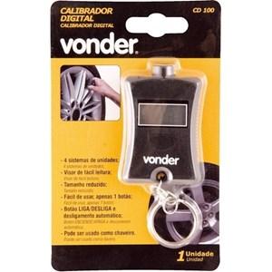 Calibrador De Pneus Digital Cd 100 Vonder