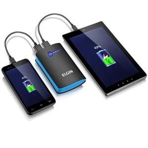 Carregador Portatil USB 5200mah CP-5200 Preto/Azul -Elgin