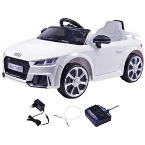 Carrinho Elétrico Infantil Audi TT 2.4Ghz Branco 12V c/ Controle Remoto BelFix