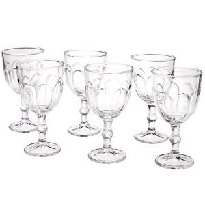 Conjunto de Taças para Água em Vidro Transparente 300ml 6 Peças Lyor