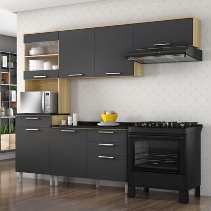 Cozinha Completa Clean Grafite Intenso - Itatiaia