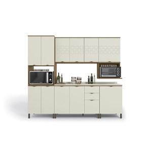 Cozinha Completa Lótus CB575 Freijó/Off White/Orion Kappesberg