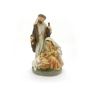 Decoração Enfeite de Natal Sagrada Família Polires D12 25cm