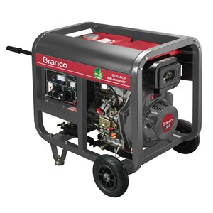 Gerador de Energia à Diesel Monofásico 5,5Kva 110/220V BD-6500 E - Branco Motores