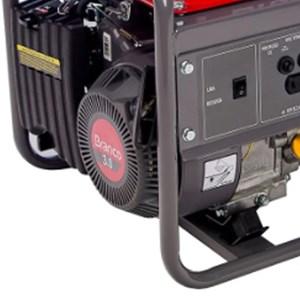 Gerador de Energia à Gasolina 3CV 1.3kva com Partida Manual Monofásico B4T1300 Branco Motores