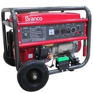 Gerador de Energia à Gasolina 6,5 kVA 15HP 110/220V com Partida Manual  Branco Motores