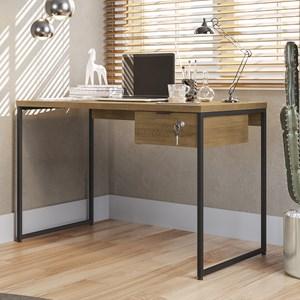 Mesa Para Escritório Diretor Estilo Industrial 1,18m Frejo Com 1 Gaveta Kapesberg