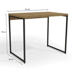 Mesa Para Escritório Diretor Estilo Industrial 91cm Frejo Com 1 Gaveta  Kapesberg
