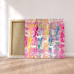 Quadro Decorativo em Tecido Canvas 60x60cm Pintura IV