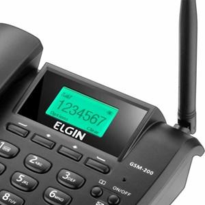 Telefone Fixo Dual Chip GSM200  c/Identificador de Chamada - Elgin