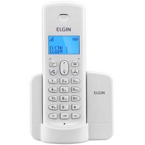 Telefone Sem Fio TSF 8001 c/ Viva Voz E Identificador De Chamadas Branco - Elgin
