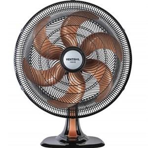 Ventilador Oscilante Mesa Turbo 6 Pas 50cm Preto Helice Bronze Ventisol Premium - 127V 135w